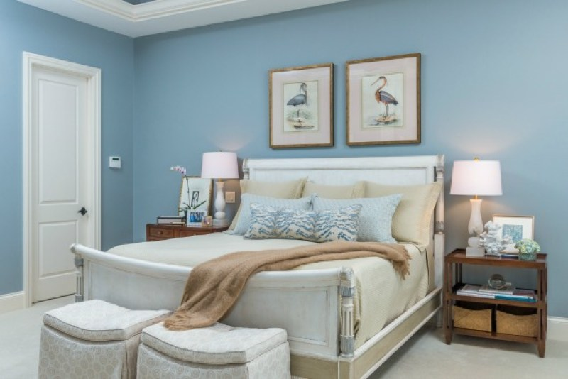 blue master bedroom design