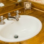 Sophisticated Rustic Master Bath Detail