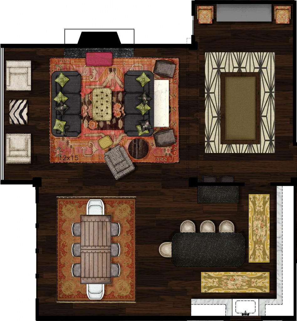 Rendered Main Level Hoskins Interior Design