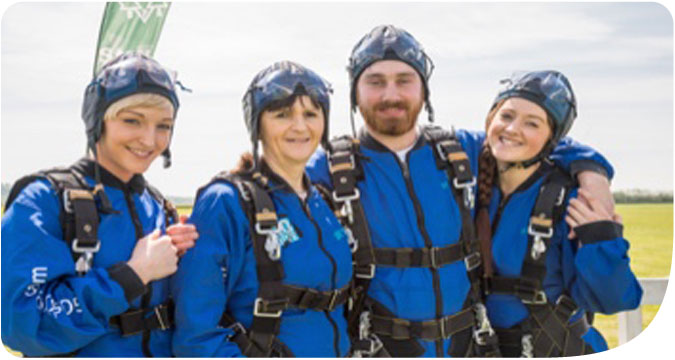 Group of GoSkydive Friends