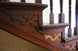 Wooden stair decals are recovered for use in another project.