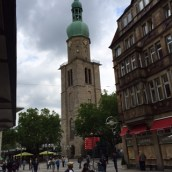 Not the Cathedral of Cologne, but still an impressive church dedicated to Dortmund's patron saint, Reinoldus