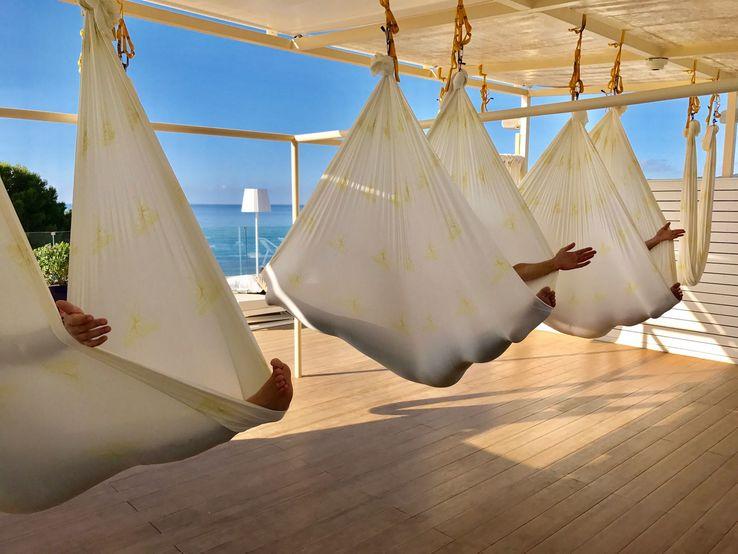 melia hotels antigravity yoga