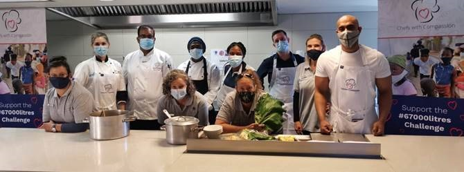 Chefs with Compassion – 67 000 litre target smashed – 283 588 people fed