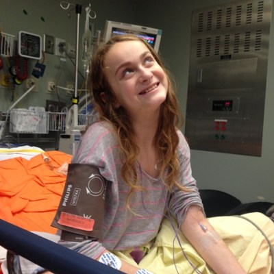 Hannah Diamond benefitted from the point-of-care ultrasound.