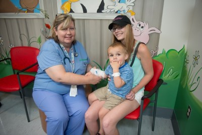 Clinical Nurse Educator Rejeanne McLean collaborated with the emergency department, foundations, and community groups to raise awareness of and funding for a separate paediatric unit.