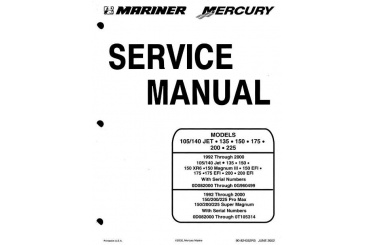 Mercury Service Manual Models 105/140 Jet, 135, 150, 175