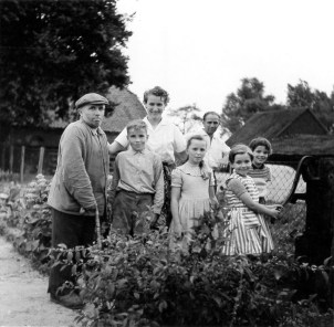 a part of the family in the kitchen garden