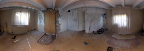 the old living room and future bedroom