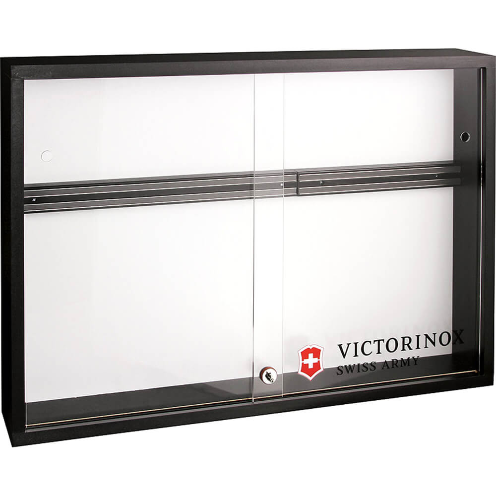 Victorinox Black Locking Magnetic Knife Display Cabinet