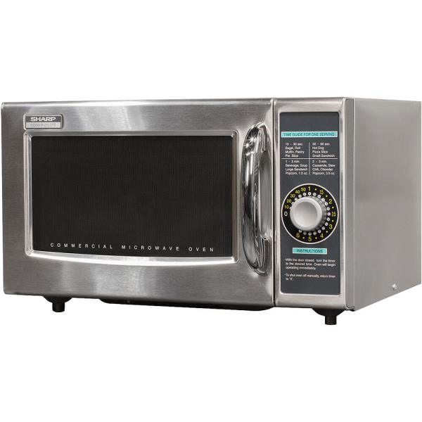 Sharp Stainless Steel Medium Duty Commercial Microwave