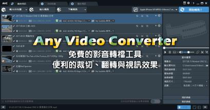 Any Video Converter 免費影音轉檔工具推薦