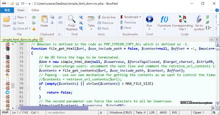 BowPad 2.4.2 輕巧、快速的文字編輯器,支援超過百種程式語言