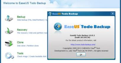 EaseUS Todo Backup 最終免費版 好用的檔案備份工具,附加硬碟磁區的拷貝功能