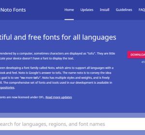 Google Noto 免費字型下載,支援全世界 800 種語言,佛心來的啊!