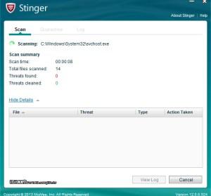 McAfee Stinger 12.1.0.2511 免費病毒檢測工具