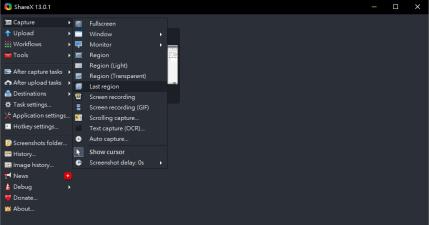 ShareX 13.0.1 文字、檔案、圖片快速分享工具,支援多種免費服務與個人空間
