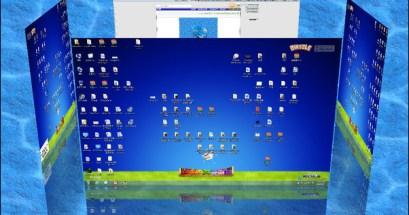 Shock 4Way 3D v129 3D效果的虛擬桌面切換,5種特效任您挑選