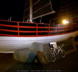 漁人碼頭夜騎。感覺好久沒騎車囉!