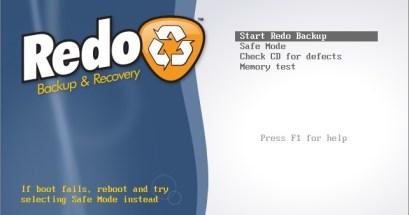 Redo Backup.備份還原硬碟、磁區的開機光碟,附加調整磁區大小等功能