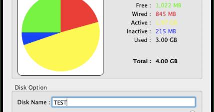 【Mac】Ultra Ram Disk。Mac上也可以記憶體當硬碟用,加速軟體快取能力