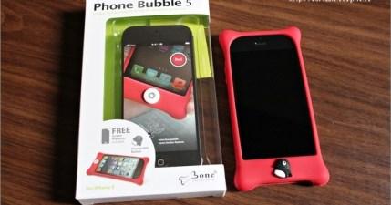 【開箱】Bone iPhone 5 Bubble 防撞保護套,脆弱的手機最適合了!