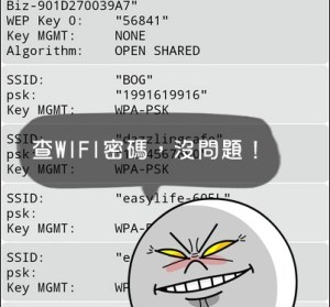 【Android】WiFi Key Recovery 查詢WiFi密碼,這樣就不怕忘記啦!(要ROOT)