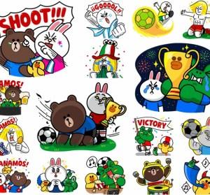 LINE貼圖也瘋世足!17個國家世界盃貼圖放送中~