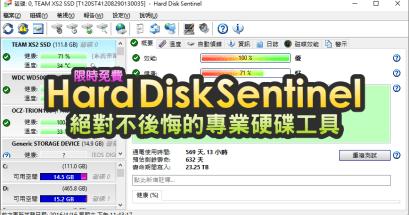 2021 Hard Disk Sentinel 好用的硬碟健康工具推薦