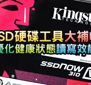 SSD 硬碟工具大補帖,如何優化?壽命健康狀態?讀寫效能評測?KINGSTON SSDNow V310 960GB 實測