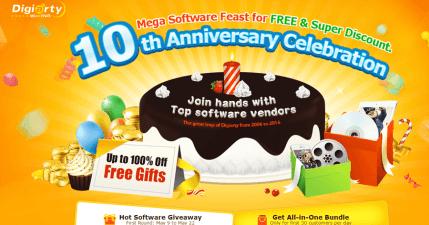 WinXDVD 十週年慶限時免費大放送!破萬元軟體躺著等你