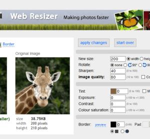 免軟體 Web Resizer 線上調整圖片工具,圖片製作圓角加邊框超簡單