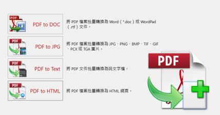 限時免費 PDF to X 16.0 將 PDF 批次轉檔成文書格式、圖片、文字與網頁,中文介面快速上手