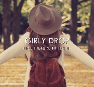 GIRLY DROP 女孩們的免費圖片素材,還有方便的手機桌布直接下載