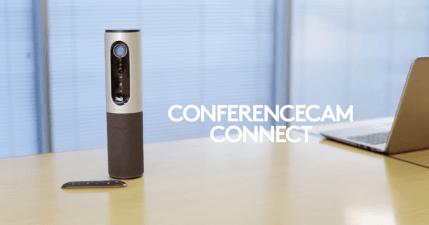羅技 Logitech ConferenceCam Connect 小型視訊會議攝影機推薦,外型精巧方便移動,不受場地受限的彈性視訊