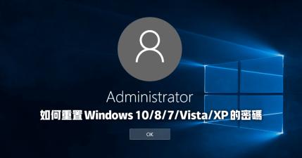 【限時免費】4WinKey 重置 Windows 10/8/7/Vista/XP 密碼的光碟工具