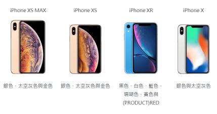 iPhone XR、iPhone XS、iPhone XS MAX 與 iPhone X 有什麼不同?總比較圖表