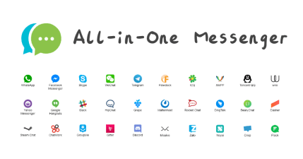 All in One Messenger 多合一整合通訊軟體,一個視窗搞定所有通訊 APP
