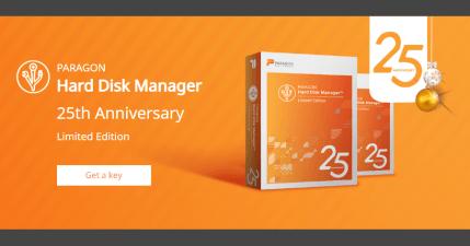 限時免費 Paragon Hard Disk Manager 25 Anniversary LE 硬碟備份還原管理工具