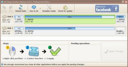 取得簡單實用的 IM Magic Partition Resizer Professional 硬碟分割管理軟體