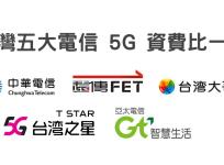 台灣五大電信 5G 資費比一比,最便宜 599 元吃到飽