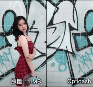 Optidash 線上無損壓縮圖片,世界第一款用 AI 技術壓縮圖片的服務,壓縮率達 40%