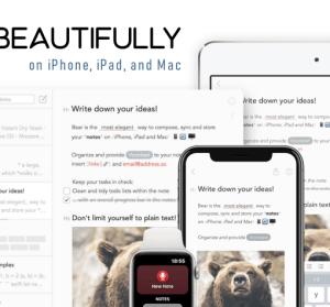 Bear 簡單實用好看的筆記本、記事本工具推薦(iPhone/iPad/Mac)