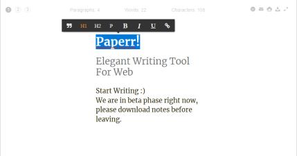 Paperr 優美簡單的文字編輯器,帶你體驗典雅的寫作風格