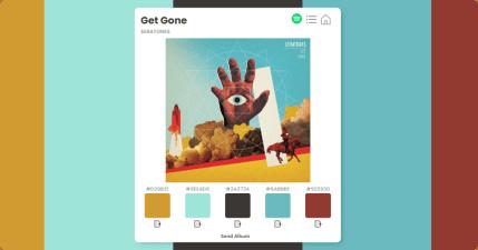 Album Colors 音樂專輯配色網,透過音樂專輯封面啟發你的配色構想!