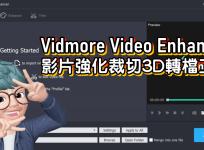 限時免費 Vidmore Video Enhancer 1.0.10 影片強化裁切3D轉檔工具
