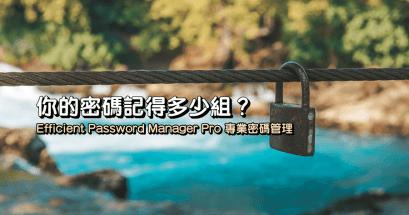 2021 專業密碼管理工具推薦 Efficient Password Manager Pro 免費免安裝