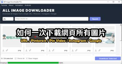 2021 All Image Downloader Pro 網頁團片下載工具,支援 Instagram Pinterest Google 圖片下載