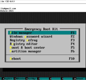 限時免費 Emergency Boot Kit 1.6n 系統開機光碟 USB 救援工具
