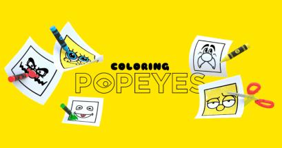 兒童卡通著色推薦 Coloring Popeyes 卡通人物臉部著色本下載